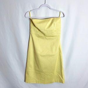 Banana Republic Yellow Strapless Dress